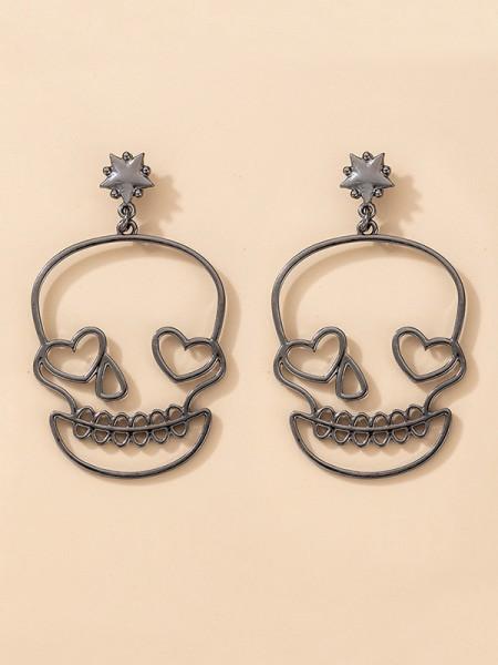 Halloween Trendy Alloy With Skull Earrings