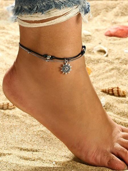 Fineness Sun Alloy Anklets