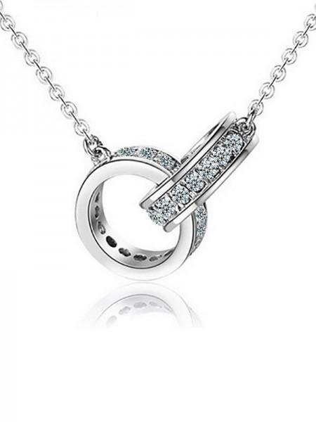 Trending Copper With Zircon Necklaces For Women