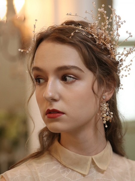 Delicate With Flower Alloy Headpieces