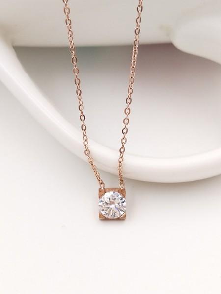 Brilliant Titanium With Zircon Necklaces For Ladies